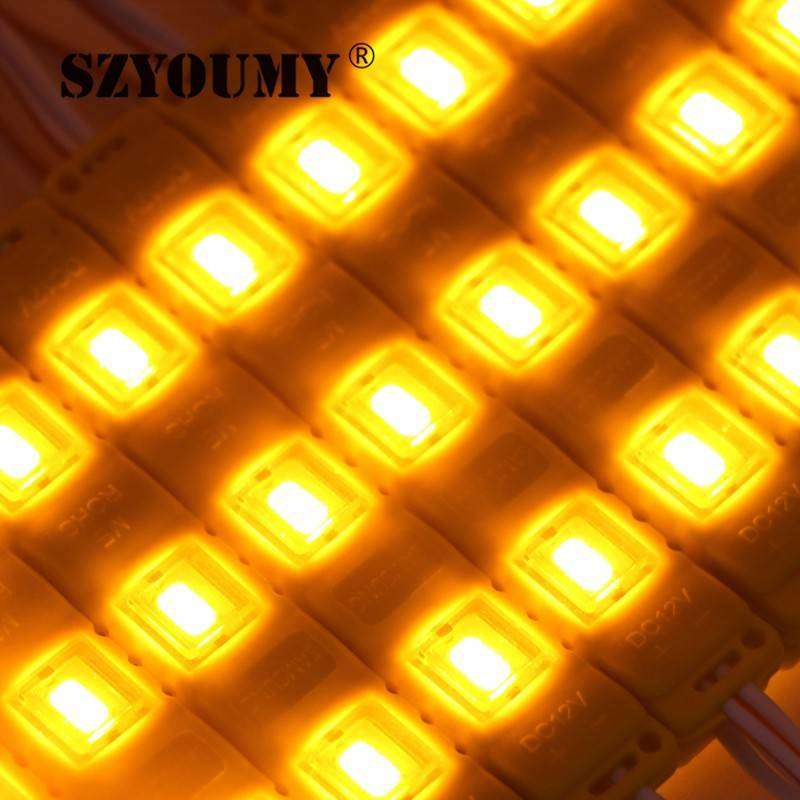 LED Light Modules Waterproof Injection Moulded in Yellowish Orange 0