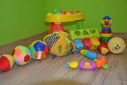 Grzechotka, gąsiennica Fisher Price, domek edukacyjny, pajac, piłka