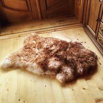 Натуральна овеча шкура з коричневими кінчиками