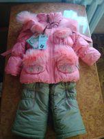 Зимний костюм для девочки kiko-1352(m)оригинал