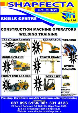 Construction Machine Operator Training and Job Assistance