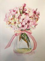 Продам акварельный рисунок, цветы акварель. Заказать рисунок Киев 1900