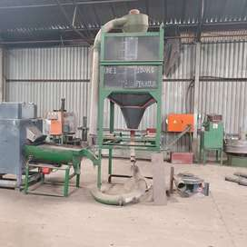 Complete extrustion line for recycling plastic