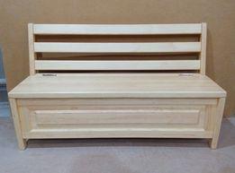 Скамейка, лавка деревянная с ящиком