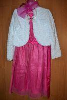 Оригинальное праздничное платье для девочки 6-9 лет от Глории Джинс