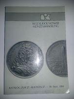 FRITZ Rudolf KUNKER MUNZENHANDLUNG Aukcja 27 1994 - Numizmatyka