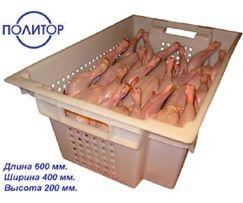 Ящик пластиковый для мяса кур, меняем старые поломанные ящики на новые