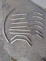 Хромированые трубы D=25mm, гусаки, крепежи для мебели