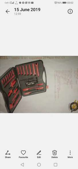 26 piece insulated tool kit