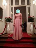 Suknia, sukienka maxi, bal, studniówka, koronkowa, odkryte plecy