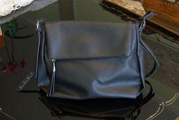 CZARNA duża torebka torba skóra kraj Anglia kieszenie
