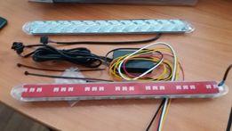 Гибкие дневные ходовые огни ДХО с бегущим поворотом (DRL) 32 см