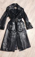 Пальто выставочный экземпляр полированная кожа телёнка