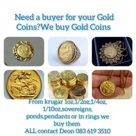 Got Gold Coins to sell? We buy Gold