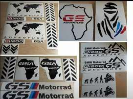 R1200 GS pannier decals stickers graphics kits.