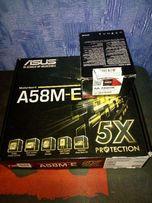Комплект FM2+ A6 7400K, Asus A58M-E