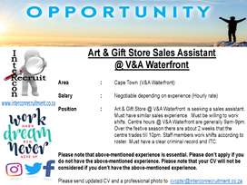 Art & Gift Store Sales Assistant @ V&A Waterfront - Cape Town