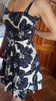 Sukienka w kwiaty S wesele komunia studniówka