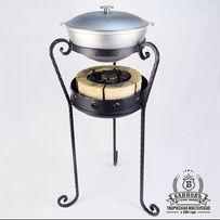 Подставка-печь для казана (мангал). Комплект Жаровой + казан 6 л