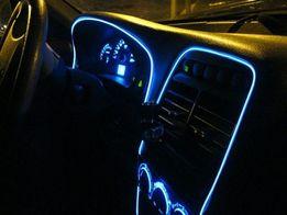 Гибкий холодный неон 2,3мм. с кантом для подсветки панели автомобиля