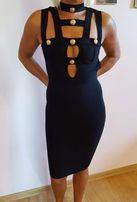 Przepiękna bagażowa nowa sukienka xs/s