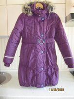 Теплое зимнее пальто на девочку Lenne 158 р. б. у.