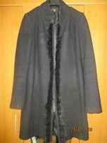 Czarny Płaszcz zimowy rozm.40