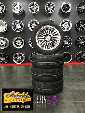 mag & tyre combo brand new narrow wides staggered  suitable vw, opel,