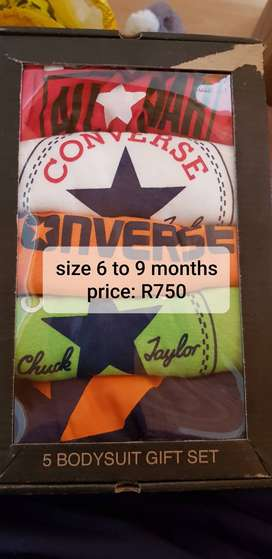 Converse short sleeved all in ones , 6 to months