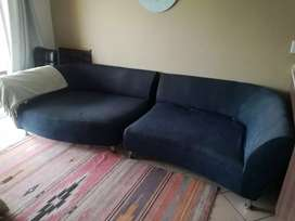 Two piece couch and matching ottomann
