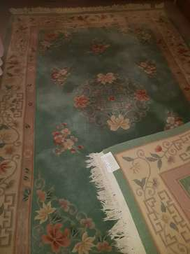 Chinese thick woven wool carpet .