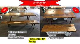 Solid Tables & Benches