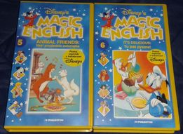 Disney Magic English - - nauka angielskiego. Kasety VHS nr 5 i 6