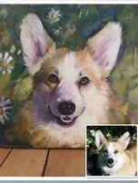 Портрет собаки, кошки и других животных по фото.