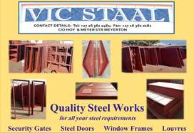 Vic Staal Steel windows and door frames