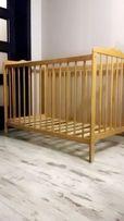 Łóżeczko drewniane 60 x 120 + pościel z baldachimem