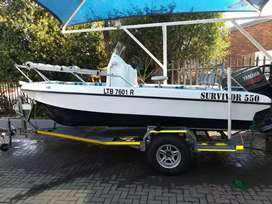 SURVIVOR 550 BOAT FOR SALE