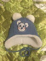 продам новую шапку на мальчика 0-3м