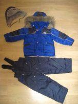 Зимний костюм - комбинезон р. 92, 98, 104, 110 + шапка