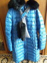 Пуховик куртка зимняя пальто синего цвета