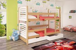 Łóżko piętrowe z szufladami + materace ! Nowość łóżko OLI ! PROMOCJA !