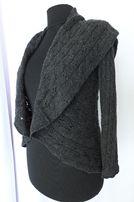 Новая Bloomingdales женская кофта 100% кашемир $295 S тёмно серый