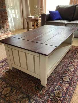 Coffe table, side board and bookcase