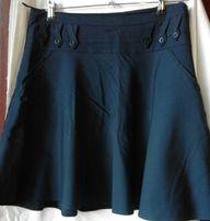 Юбка школьная тёмно-синяя расклешенная