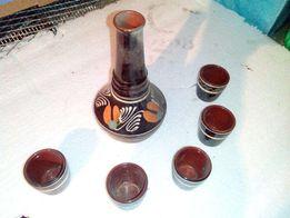 Ретро керамический набор для вина со стаканами из СССР