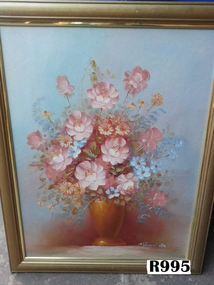 Robert Cox Oil Painting long vase (550x690) 0