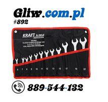 #892 Klucze płasko-oczkowe 12 el. 6-22 mm