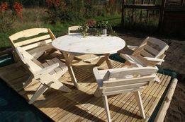 Okrągły Stół + 4 krzesła Komplet