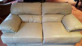 REDUCED PRICE FOR URGENT SALE!! Cream leather lounge suite for sale