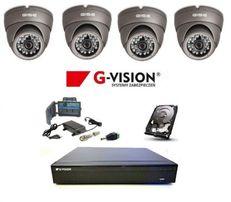 Monitoring Zestaw 4 kamer kopułowych z Podglądem online